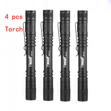 4 pcs Hugsby XP-2 XPE-R3 LED 250LM Lamp Clip Mini Penlight Flashlight Torch AAA