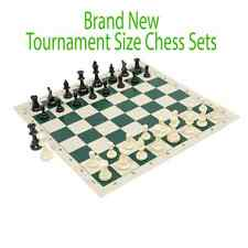 Tournament Chess set - Full Size - Brand New Pieces and Roll Board