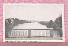 Looking South From Bridge Marmora Ontario Postcard