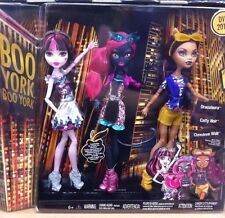 Monster High Boo York RARE 3 Pack bundle Draculaura Clawdeen Wolf Catty Noir