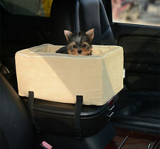 "Pet Car Seat 15"" Dog Cat Kitty Protector Standard Tote Belt Bag Barrier Travel"