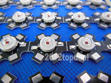 3W Deep Red High Power 80LM 650-660NM Plant Grow LED Emitter with 20mm Star Base
