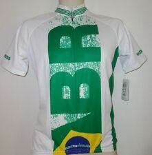 New K-Swiss Cycling Triathlon Jersey MS Sm Brazil Team Marathon Running w pocket