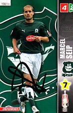 Plymouth Argyle F.C  Marcel Seip Hand Signed Championship 2008 Panini Card.