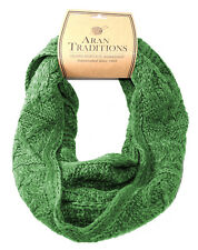 Aran Traditions Womans Ladies Men Winter Warm Knitted Style Emerald Green Snood