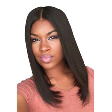 High Quality Straight  Fashion Medium Middle Part Women's Hair Wig Bob Full Wigs