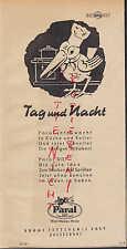 DÜSSELDORF, Werbung 1950, Böhme Fettchemie GmbH Paral gegen Schaben