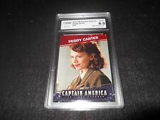 2011 Captain America The First Avenger Peggy Carter Hayley Atwell #90 Graded 8.5