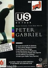 Publicité advertising 1993 Concert Peter Gabriel Paris Zenith