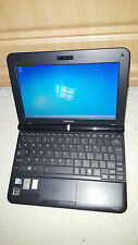 "TOSHIBA NB200 Nero Netbook Laptop 10.1 ""da 1GB 160GB Windows 7 Office WEBCAM Fast"
