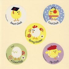 15 Easter Chicks - Large Stickers - Party Favors - Rewards