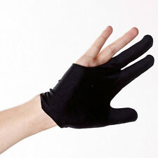 10x Nylon 3 Finger Gloves Shooter Pool Billiards Cue Glove Black Indoor Game w33