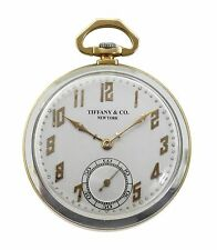 Vintage 1920's Tiffany & Co.18k & Platinum Pocket Watch by C.H.Meylan Cressarrow