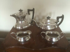 BEAUTIFUL 4 PIECE SILVER PLATED TEA SERVICE ON A RAISED PLATFORM (SPTCS 1002  )