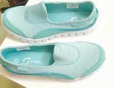 New S SPORT BY SKECHERS WOMEN SHOES SLIP-ON SNEAKER Mint Green color size 6.5