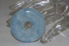 Aquamarin Donut ca. 50mm /148ct(29,6g) Anhänger Spitzenqualität super wasserblau