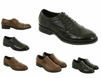 Mens & Boys Leather Formal Shoes Size 6 to 11 UK By London Shoe Co - WORK SCHOOL