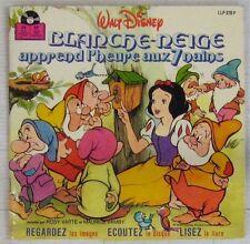 Blanche Neige apprend l'heure aux 7 nains 45 tours Walt Disney