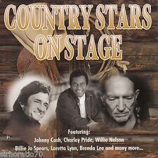 COUNTRY STARS ON STAGE CD - Willie Nelson Cash Loretta Lynn Pride Spears NEW