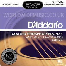 D'addario Exp26 Custom Light Guitarra Acústica Cuerdas 011 - 052-de bronce fosforoso