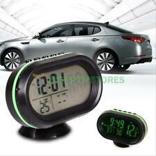 Auto Car Digital LCD Monitor Thermometer Voltage Meter Alarm Monitor Clock Green