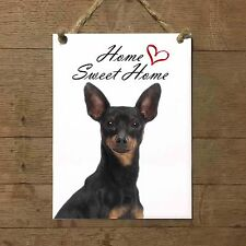 PINSCHER Home Sweet home mod2 Targa cane piastrella ceramic tile dog