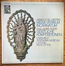 Arnold De Lantins: Missa Verbum Incarnatum German LP EMI Electrola, Kees Otten