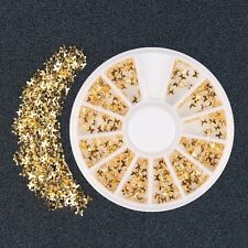 300pcs Gold Butterfly 3D Rhinestone DIY Nail Art Stickers Charm Decorations