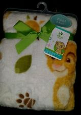 "NEW DISNEY BABY THE LION KING SIMBA SUPER SOFT PLUSH BABY BLANKET.  30"" X 40"""