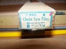 "Collar Brand Chain Saw Files 8"" x 1/4 Vintage Model **Brand New in Original Box"