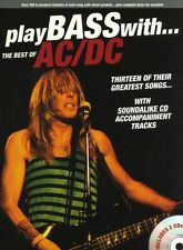 Play Bass With Best Of AC/DC Learn to Play Guitar TAB Music Book & CD