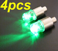 4pcs Green LED Tyre Tire Valve Cap Light Bike Car Tire led light Valve led light