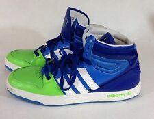 Adidas Originals Court Attitude Shoes Blue Green White G99390 Mens Size 12