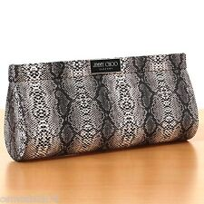 Genuine Jimmy Choo Perfume clutch designer Snakeskin purse goes with party heels