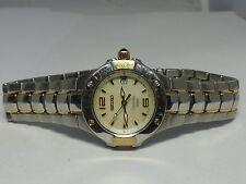Seiko Coutura Diamond Ladies Mop Dial Two Tone Bracelet Quartz Watch 7N82