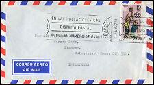 Espagne 1977 couverture de courrier aérien commercial à l'Angleterre #C 30389