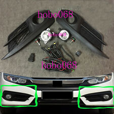 1SET For Honda Civic 2016 Car Front Bumper FOG Light LAMPS BULBS Switch LINE OEM