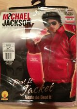 Micheal Jackson Red Beat It Jacket /Coat Costume. New