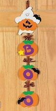 1 Ghost Door Hanger Craft Kit Pumpkin Boo Halloween Kid