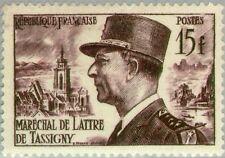 PHOTO MAGNET France Marshall de Lattre de Tassigny 1952 issue 15fr