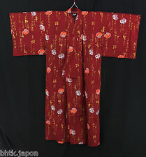 浴衣 Yukata japonais traditionnel - Daruma Rouge (Large) MADE IN JAPAN