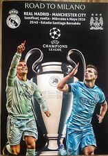 2016 REAL MADRID v MANCHESTER CITY CHAMPIONS LEAGUE SEMI FINAL A4 PROGRAMME