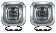 2x PIAA 410 Series Intense White Driving Lamp Square Light Enclosures 4102 Pair