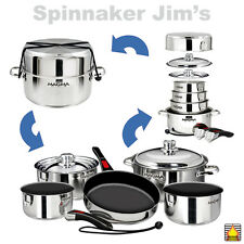 Magma A10-366-2-IND NESTING 10 Pc INDUCTION COOKWARE Ceramica Non-Stick Boat RV