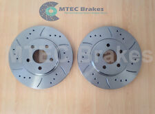 Mondeo ST ST220 mk3 Front Drilled Grooved Brake Discs