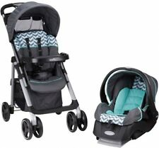 Evenflo Vive Safety Car Seat and Stroller Travel System, Spearmint Spree, New