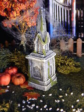 Halloween TOMBSTONE ~ Steeple Style ~GRAVE, cemetery Headstone, Dept 56, Lemax