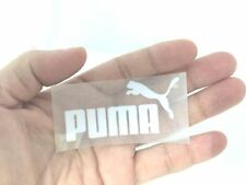 PUMA WHITE IRON ON PATCH SPORTS LOGO APPLIQUES DIY T-SHIRT CLOTHING POLO 6X3 CM