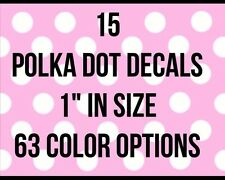 "1"" Polka Dot Decal Vinyl Stickers Home Outdoor Decor Kids Adult Crafts Colorful"