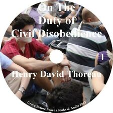 Civil Disobedience by Henry David Thoreau Classic Audiobook on 1 MP3 CD